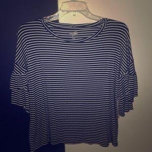 Francesca's striped shirt